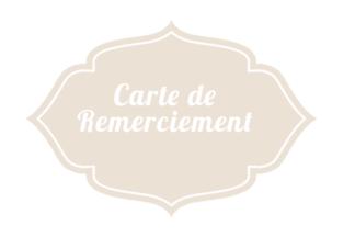 Cartes De Remerciements - Mariage