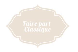 Faire-Part Classique